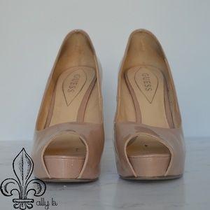 Guess Shoes - 🎆Guess Nude Platform Heel🎆